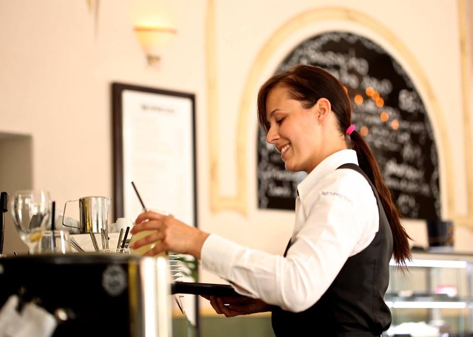 Сервитьорка, Сервитьор, Ресторант, Кафене, Кафе