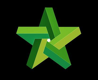 Tähti, Ymmällään, Geometria, Rakenne