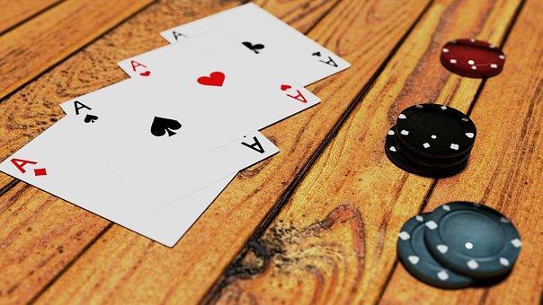 Poker, Game, Token, Green, Black, Blues