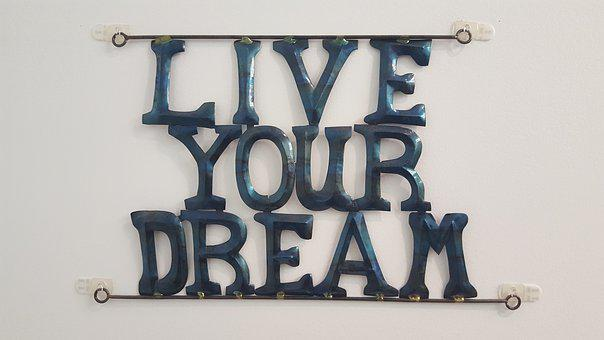 Liveyour dream written with blue words on a light background for 301 inspirational and motivational quotes