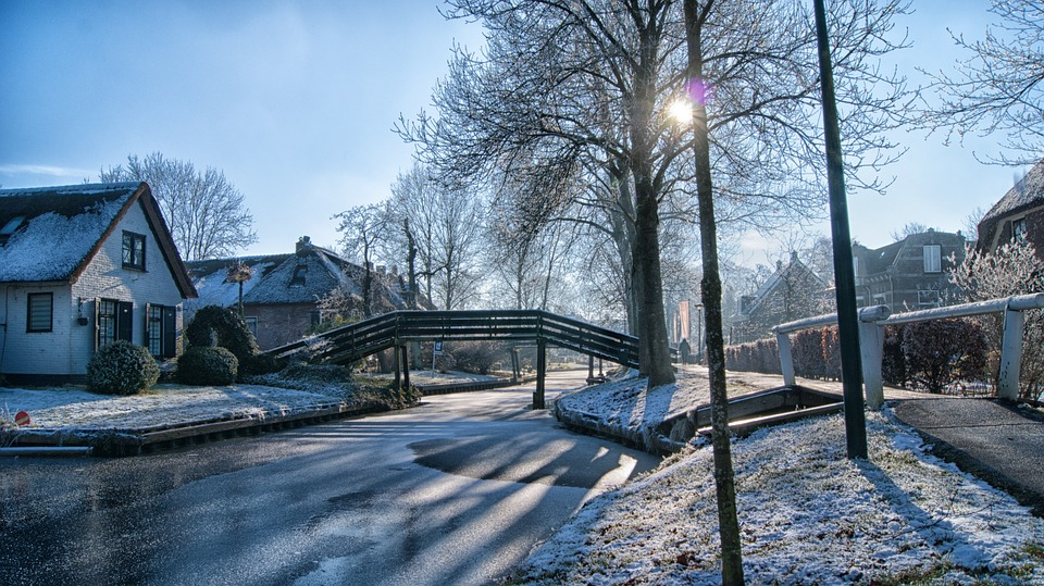 Giethoorn Winter Frost Free Photo On Pixabay
