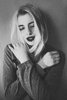Bw, 写真, レトロ, 女の子, 肖像画, 姿勢, フォト, カップル, 関係