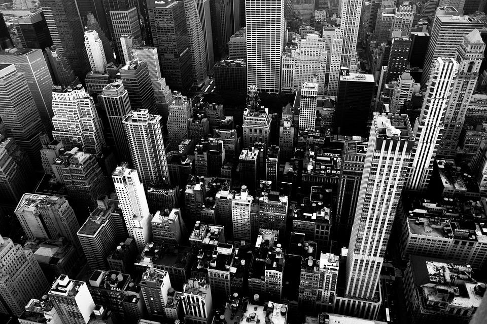 ニューヨーク, 市, アメリカ, 超高層ビル, 高層ビル, スカイライン, 建物, ファサード
