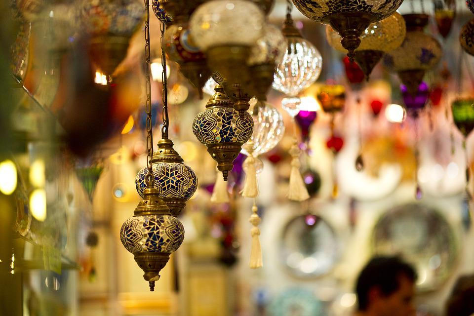 ランプ, シャンデリア, 光, お土産, イスタンブール, 家具, モチーフ, 中東, オットマン