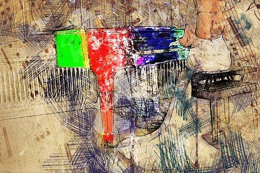 Art, Collage, Design, Colorful, Color