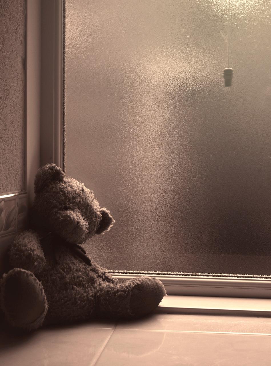 анимационная открытка медвежонок смотрит в окно территории