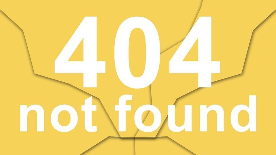 pagina de erro 404 not found