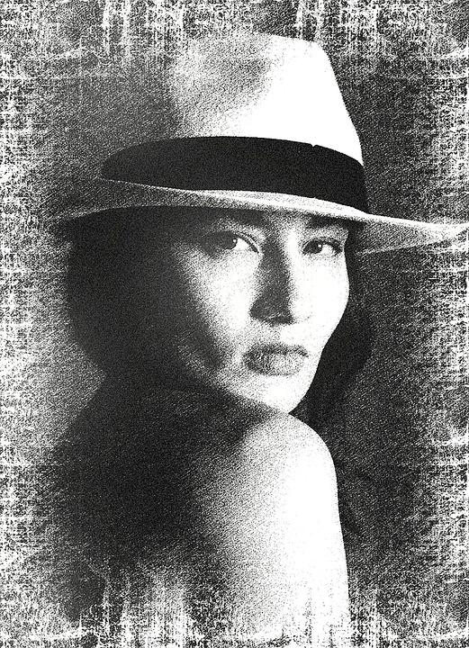 Femme Dessin Noir Et Blanc Photo Gratuite Sur Pixabay
