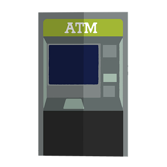 Atm, Vector, Banking, Bank, Cartoon
