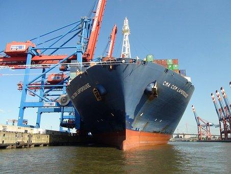 Barco, Puerto, Contenedor, Exportación