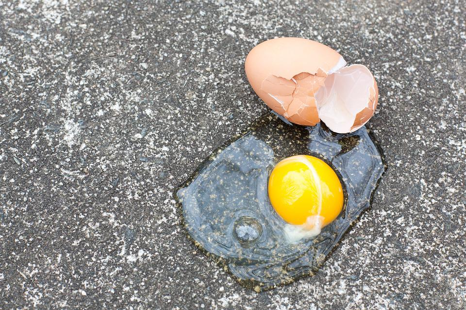 Color, Egg, Broken