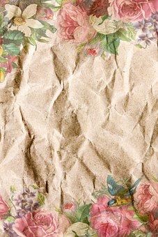 Paper, Crumpled, Vintage