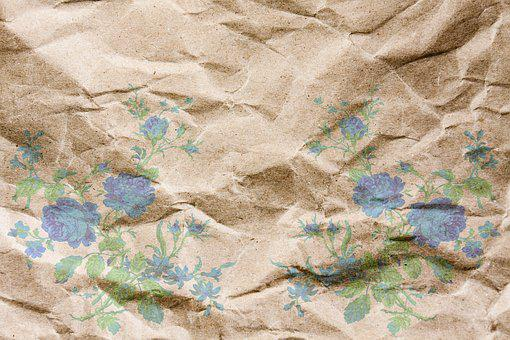 Paper, Background, Crumpled, Fold