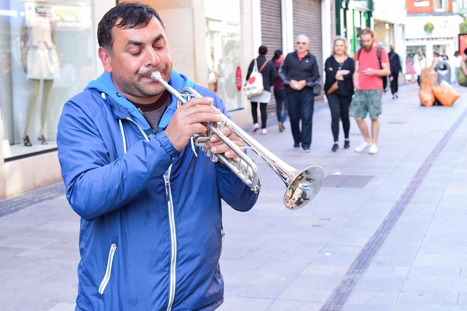 Ireland, Dublin, Street, City, Street Artist, Music
