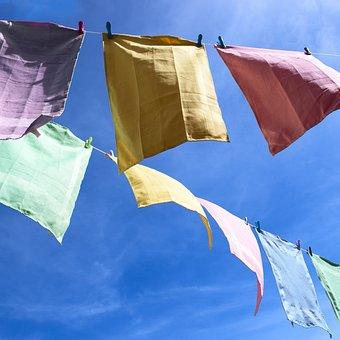 リネン, ドライ, 太陽, 風, 拡大, ぶら下げる, 空気無料, 布巾