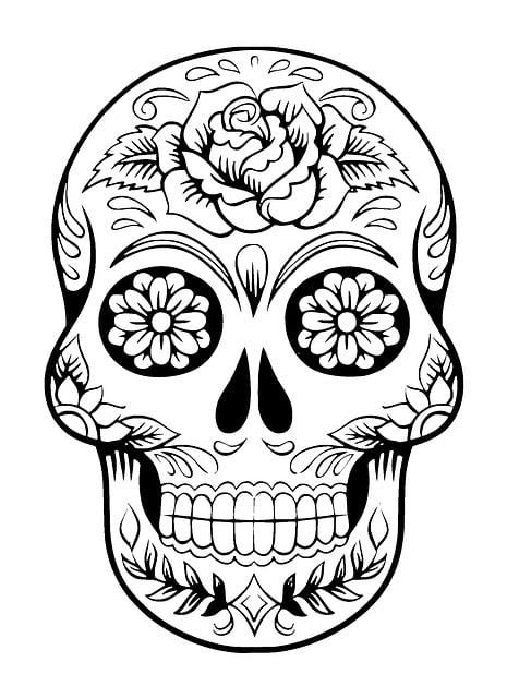 Cráneo Calavera De Azúcar Tatuaje · Imagen gratis en Pixabay