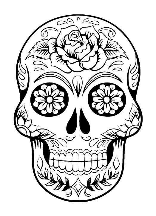 Schedel Suiker Tattoo Gratis Afbeelding Op Pixabay