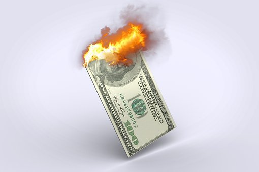 Dollar, 100 Dollar Bill, Dollar Burning