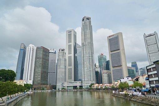 シンガポール, 街, 超高層ビル, 旅, アーキテクチャ, 旅行, アジア