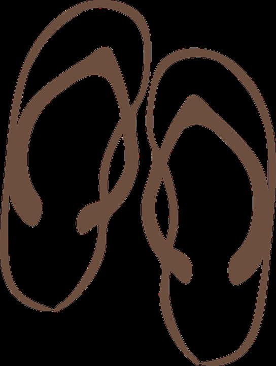 Strand clipart schwarz weiß  Flip, Flops - Kostenlose Bilder auf Pixabay