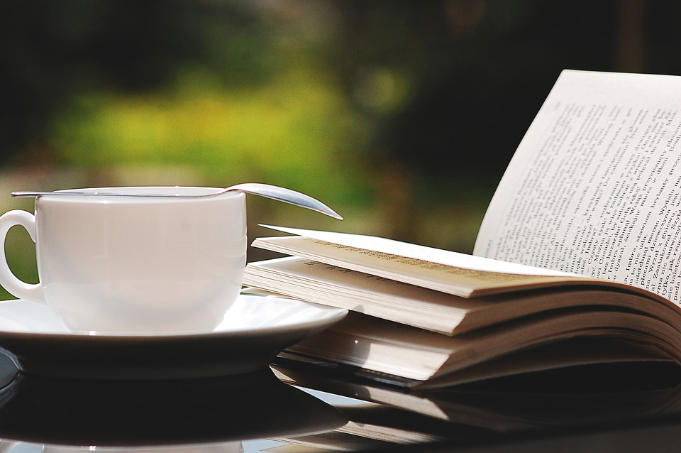 Buch, Teetasse, Natur, Sommer, Lesen, Kaffee