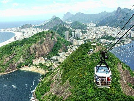 Teleférico, Vista panorámica Río de Janeiro, Brasil