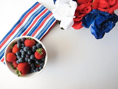 Red, White, Blue, Fruit, Berries