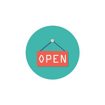 オープン, アイコンを, 記号, シンボル, ホワイト, ビジネス, デザイン