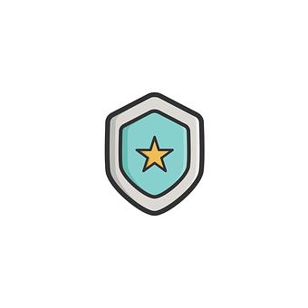 シールド, アイコンを, 記号, セキュリティ, 保護, シンボル, 安全性