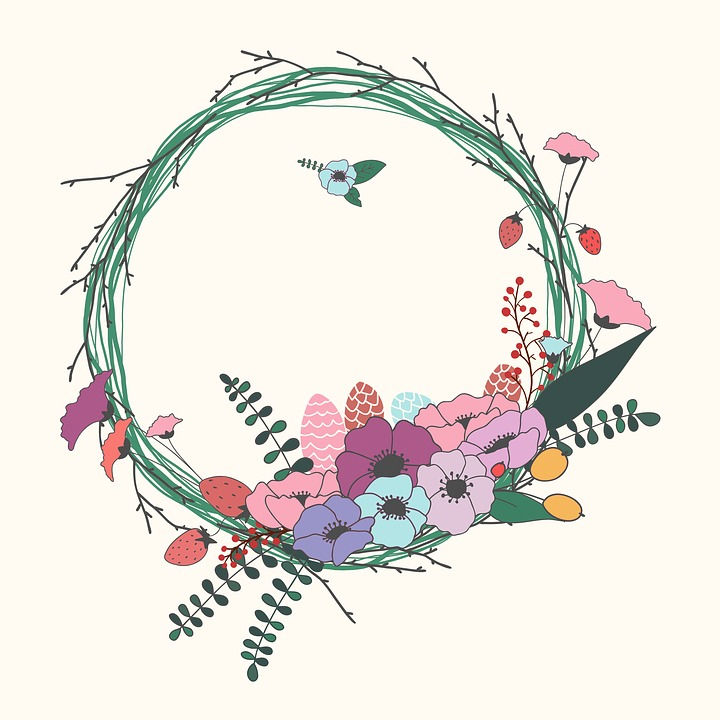 Floral Decoration free illustration: flowers, wreath, floral, decoration - free