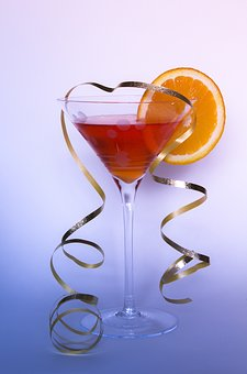 Cocktail, Glass, Orange, Drink, Alcohol