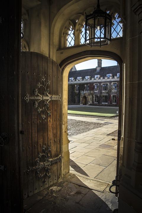 free photo  door  open  courtyard  open door - free image on pixabay