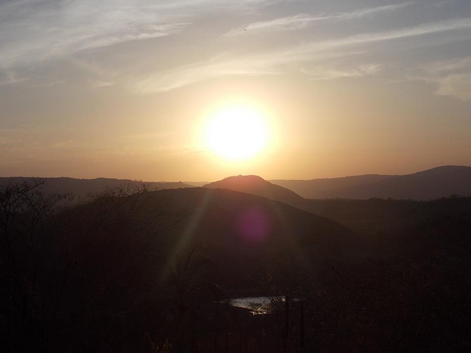 自然, ソル, リオ, 風景, 夕暮, 夜明け, サンセット, 朝日, ブラジル, 夕日, 美しい, 空