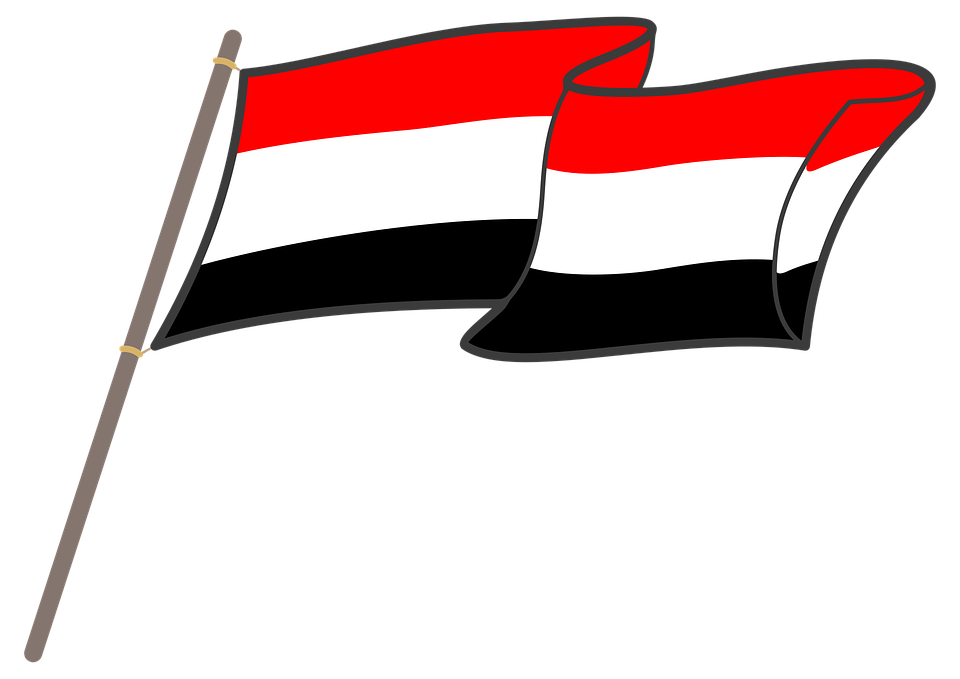 Yemen, Flag, Graphics, National Colors, The Mast