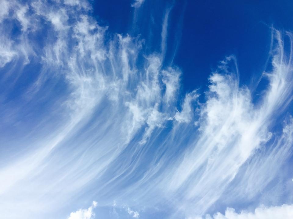 cirrus clouds blue free photo on pixabay