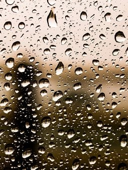 Raindrops, Drops, Water, Rain