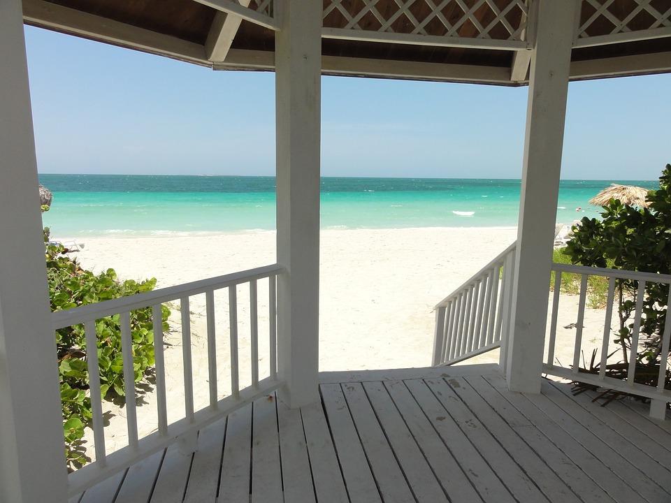 Cuba, Varadero, Playa, Madera, Sombra, Verano