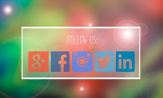 Follow Us, Facebook, Google Plus, Media