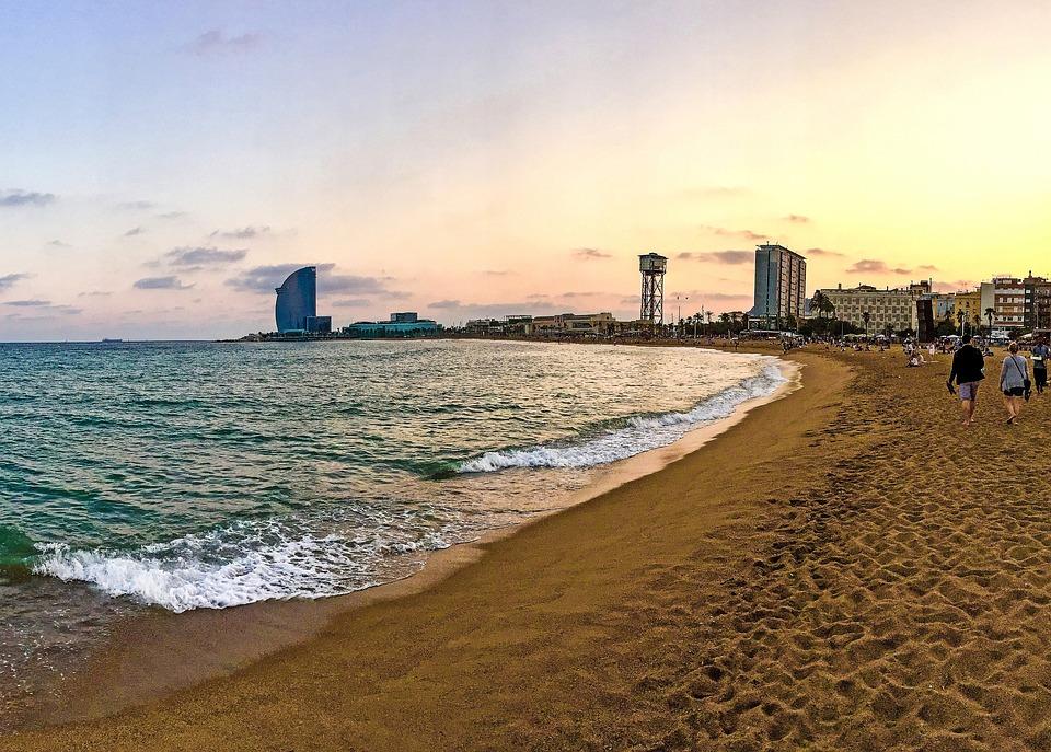 Barcelona Strand Spanien Kostenloses Foto Auf Pixabay
