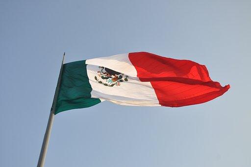 Flag, Mexico, Mexican Flag, Sky