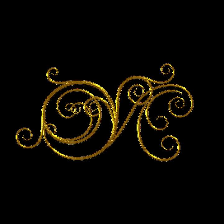 gold flourish divider  u00b7 free image on pixabay Quill Pen Clip Art fountain pen clipart black