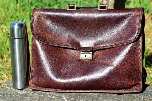 Bag, Leather Case, Break, Work Bag