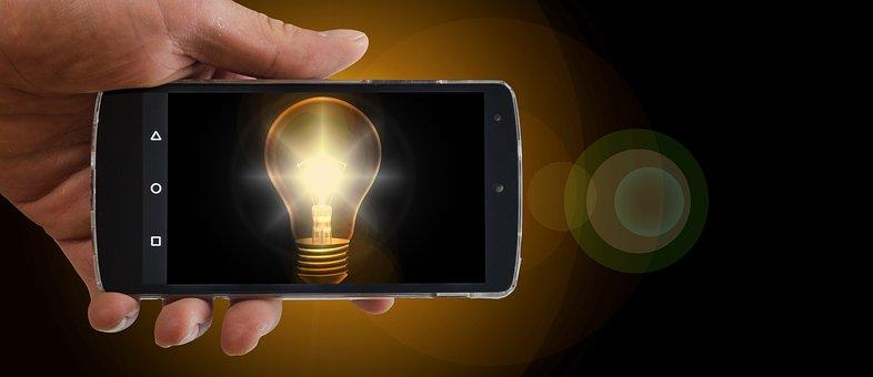 携帯電話, スマート フォン, 梨, 思う, アイデア, 質問, 応答