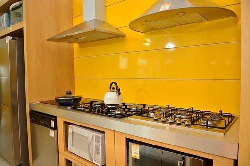 Keuken, Brander, Geel