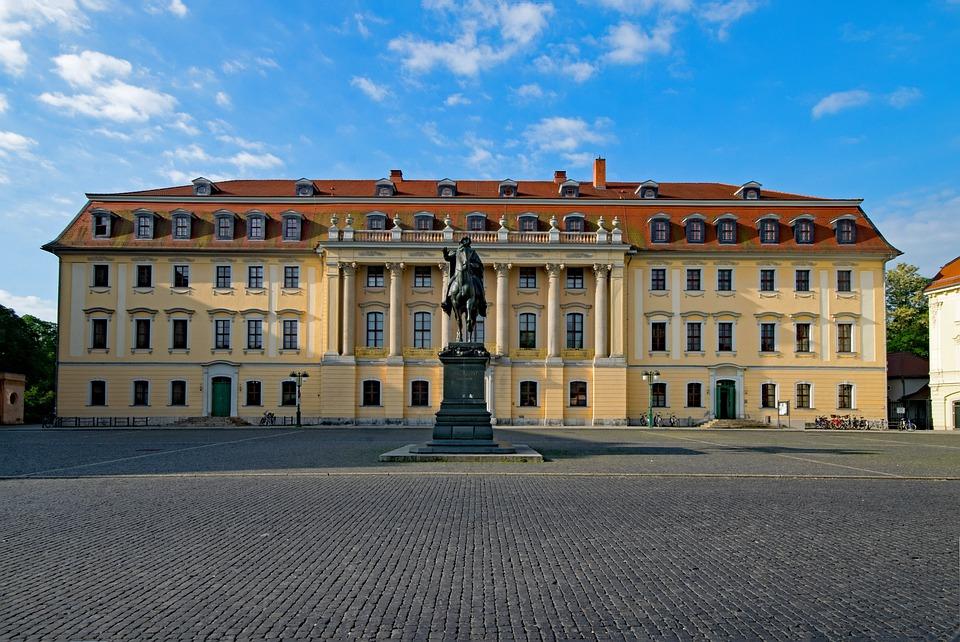 王子の家, ワイマール, テューリンゲン州 ドイツ, ドイツ, 歴史的中心部, 古い建物, 観光名所, 文化
