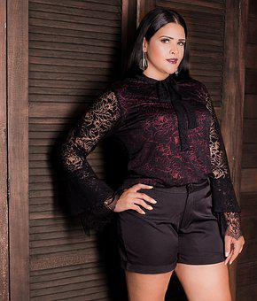 Fashion, Model, Plus, Size, Fat, Woman