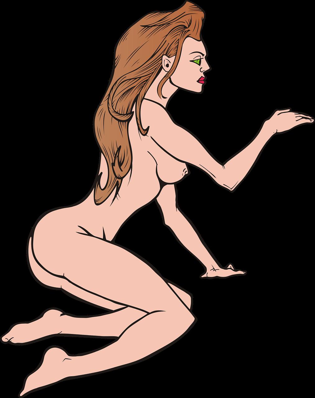 Anime Female Nude Solo