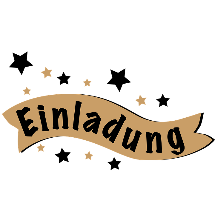 Kostenlose Illustration Schriftzug Einladung Banner