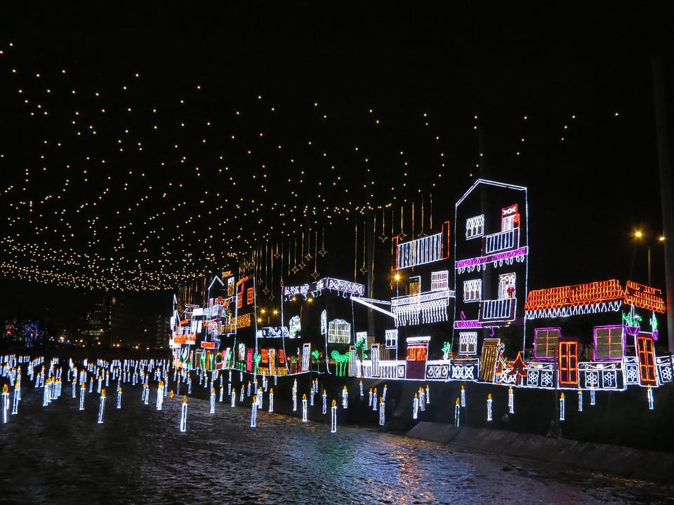 Lighting Systems, Medellín, Christmas, Lights, Xmas