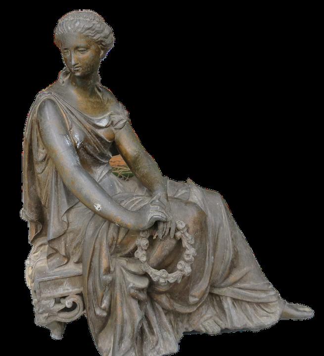 Sculpture, Garden Figurines, Youth Stalk, Female